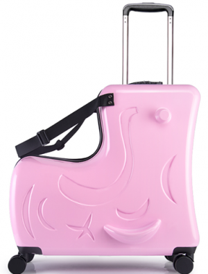 Kid's ride-on suitcase light pink