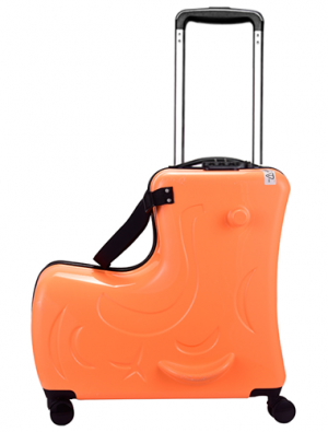 Kid's ride-on suitcase orange
