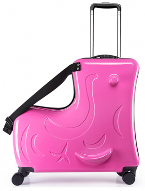 luxury, ride-on suitcase